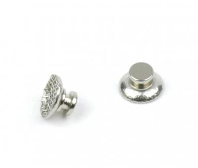 Metal Lingual Buttons, round Base